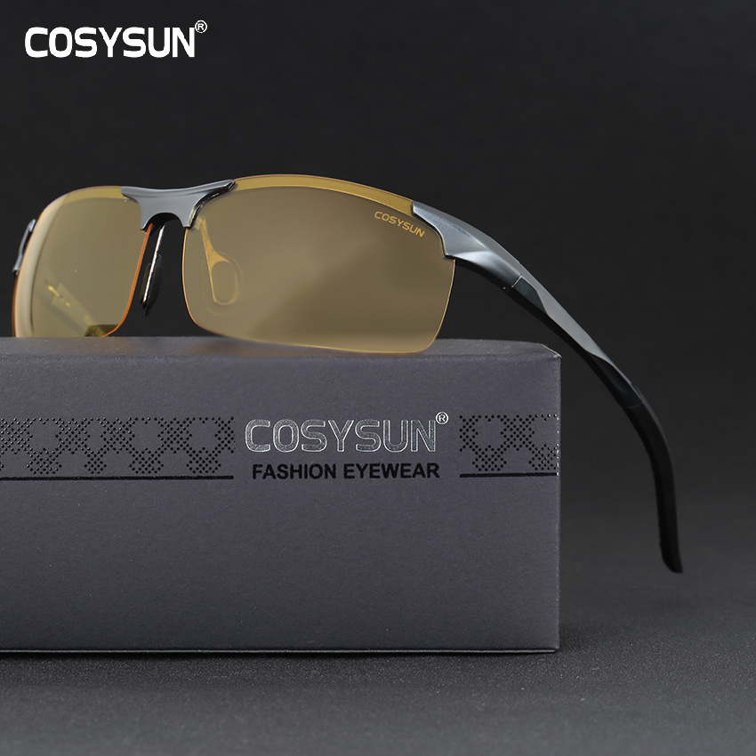 Men Aluminium Alloy Night Vision Goggles Safe Driving Women Polarized Sunglasses Men's Car Drivers Glasses Night Sunglasses