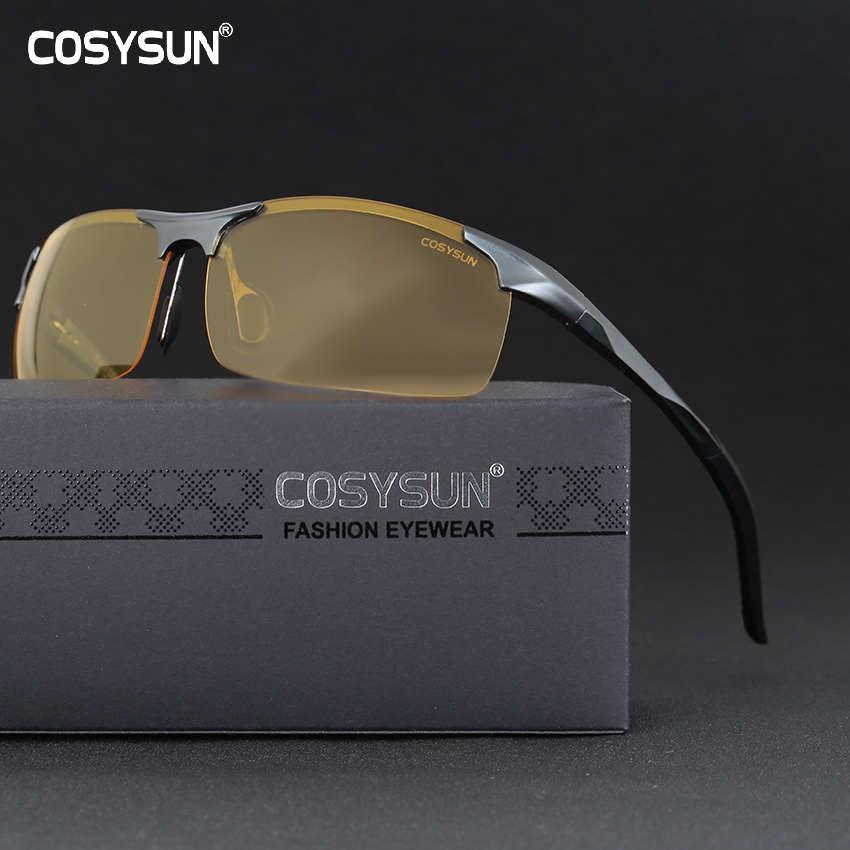Gafas de visión nocturna de aleación de aluminio para hombres gafas de sol polarizadas para conducir de seguridad para mujeres