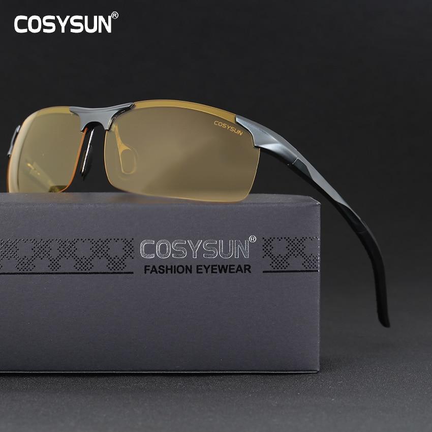 Männer Aluminium Legierung Nachtsicht Brille Sicheres Fahren Frauen Polarisierte Sonnenbrille Männer Der Auto Treiber Gläser Nacht Sonnenbrille Einen Effekt In Richtung Klare Sicht Erzeugen