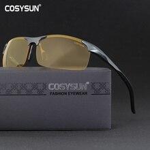 672cf534c الرجال سبائك الألومنيوم نظارات الرؤية الليلية القيادة الآمنة النساء  الاستقطاب النظارات الشمسية الرجال سيارة السائقين النظارات