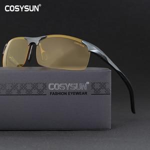 Image 2 - Men Aluminium Alloy Night Vision Goggles Safe Driving Women Polarized Sunglasses Mens Car drivers Glasses Night Sunglasses