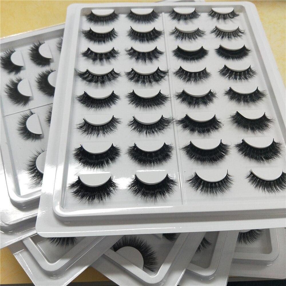 16styles/set 100% Real Fake Mink Eyelashes 3D Natural False Eyelashes 3d Mink Lashes Soft Eyelash Extension Makeup free shipping