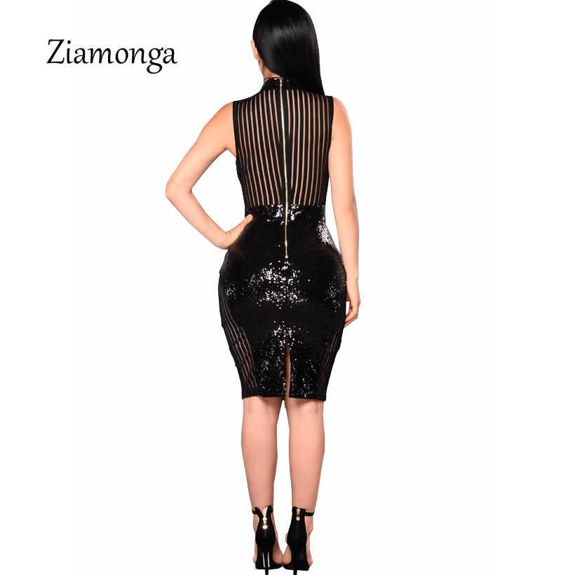 Zionga летнее облегающее сексуальное платье-карандаш для женщин с открытой спиной, расшитое блестками, офисные вечерние платья, облегающее платье миди, платье Элегантная одежда, платья