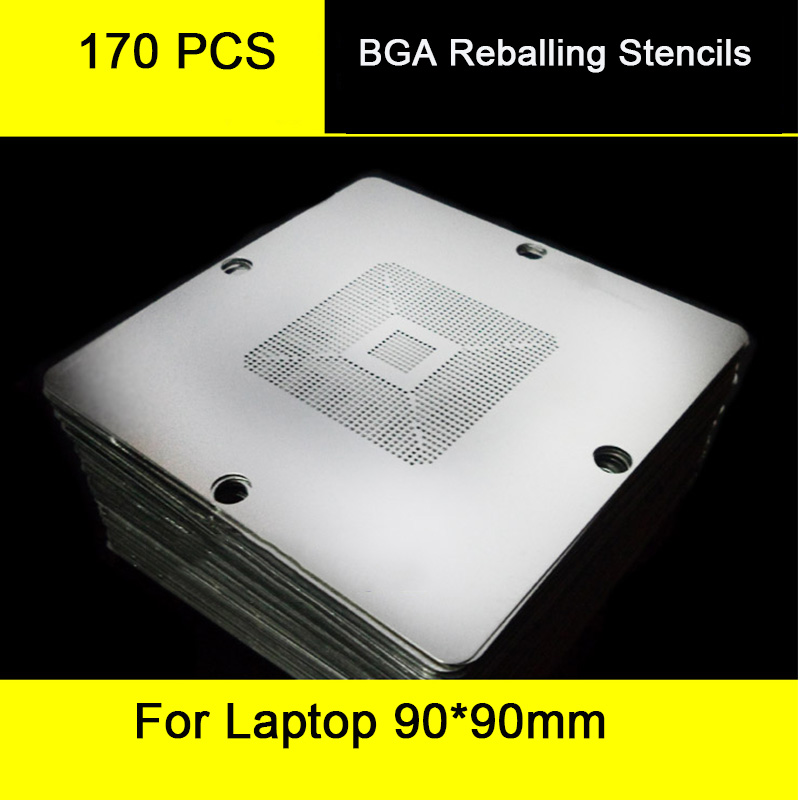 170 pcs 90*90mm Universal <font><b>BGA</b></font> Reballing <font><b>Stencils</b></font> For PC Laptop Motherboard Repair image