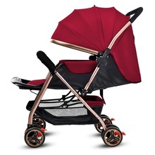 Covertible Push Handle Four Wheels Baby Stroller Newborn Baby