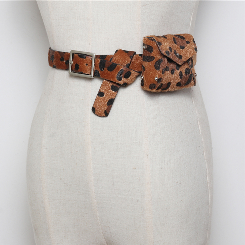 Autumn Leopard Women Belt Bag Waist Fanny Pack Fashion Adjustable Mini Belt Waist Bags Lady Small Belt Cards Purse Key Pouch Bag