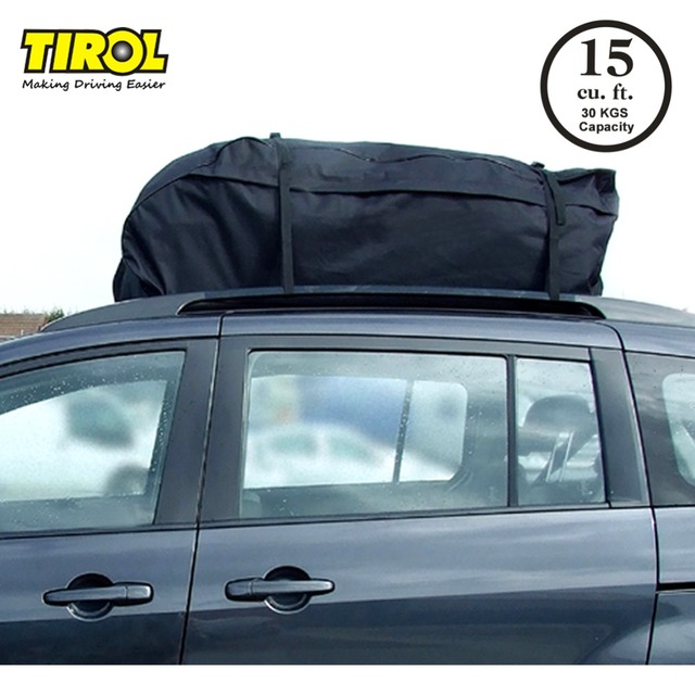 Cargo Box For Suv >> Us 24 19 13 Off Tirol Water Resistant Roof Bag 15 Cubic Feet Roof Top Cargo Carrier For Vehicles With Roof Rails Suv Van Cargo Box T20656b In Roof