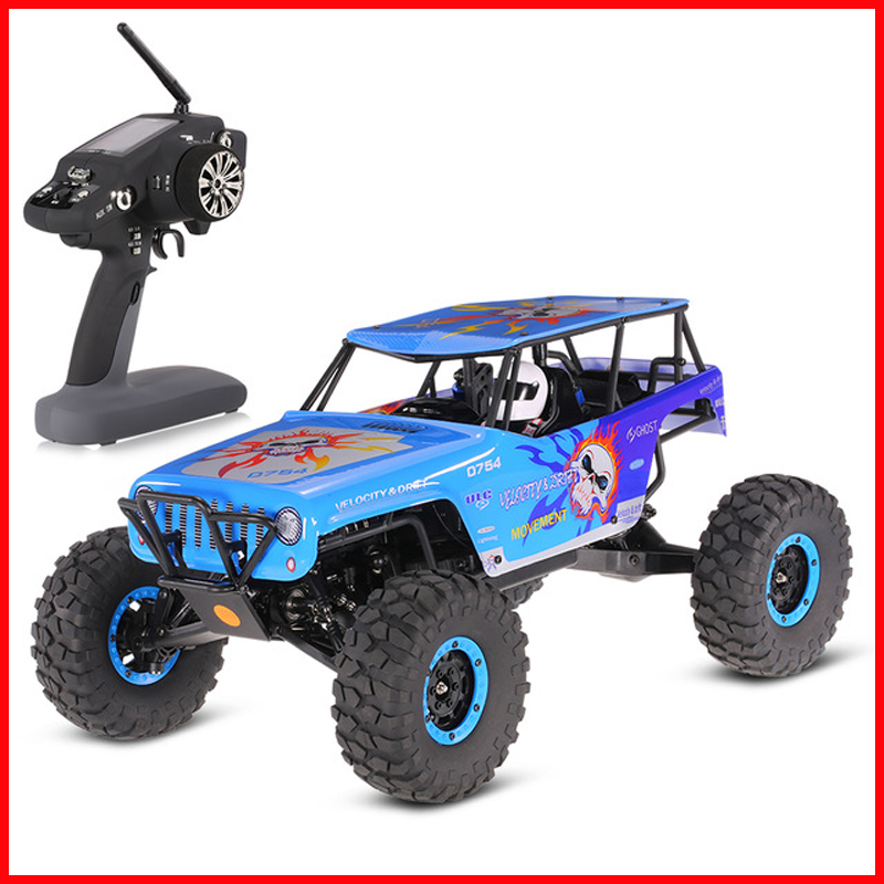 WLtoys <font><b>10428</b></font> RC Cars 2.4G 1:10 Scale 540 Brushed Motor Remote Control Electric Wild Track Warrior Car Vehicle Toy image