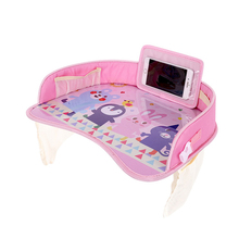 купить Portable Baby Car Safety Seat Tray Stroller Dining Food Holder Car Tray Table Waterproof Kids Toys Paint Fun Car Baby Seat Table дешево