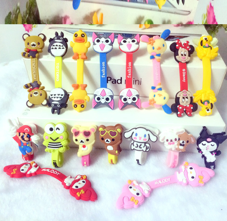 Cartoon Cable Winder Organizer Earphone Winder Protector Wire Marker Holder Cover For Phone USB Cartoon Dolls Novelty Toy