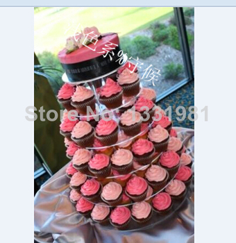 Manufacturers selling 5 tier special acrylic cake Birthday cake stand The wedding cake stand acrylic cupcake stand decoration