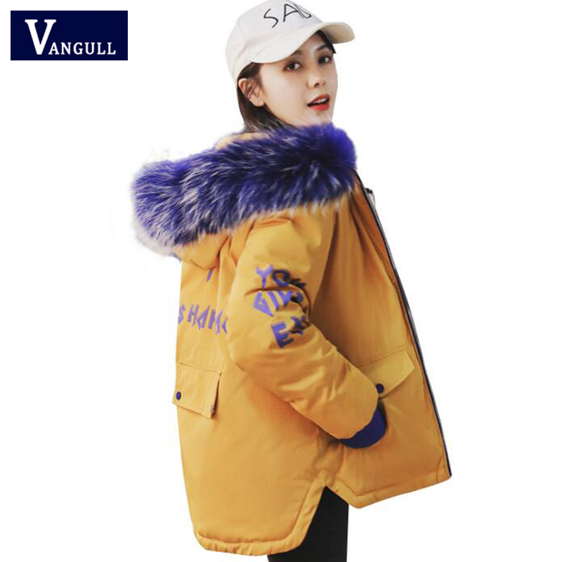 New Fashion Winter Women's Clothing cotton clothes Hooded Big fur collar Female Coats Thick with Warm zipper women   Parkas