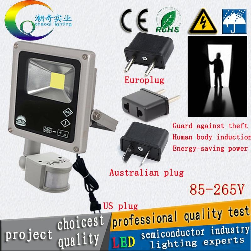 купить 10w20w30w50w100W led floodlights led search light ourdoor lamp PIR Motion sensor Induction LED flood light 85-265V220V110V