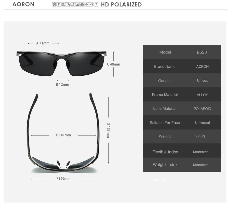 Gafas de sol polarizadas para hombre AORON Gafas de conducción con - Accesorios para la ropa - foto 5