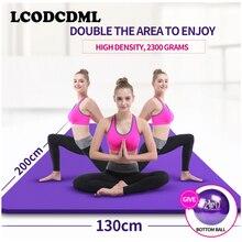 Высококачественный двойной Йога коврик, расширить 130 утолщение, Танцы мат, спортивный мат, фитнес-pad начинающих Расширенный Йога одеяло