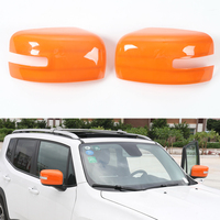 2Pcs Auto Car Exterior Rearview Side Mirror Decoration And Protection Cover Cap Trim Styling Mouldings For