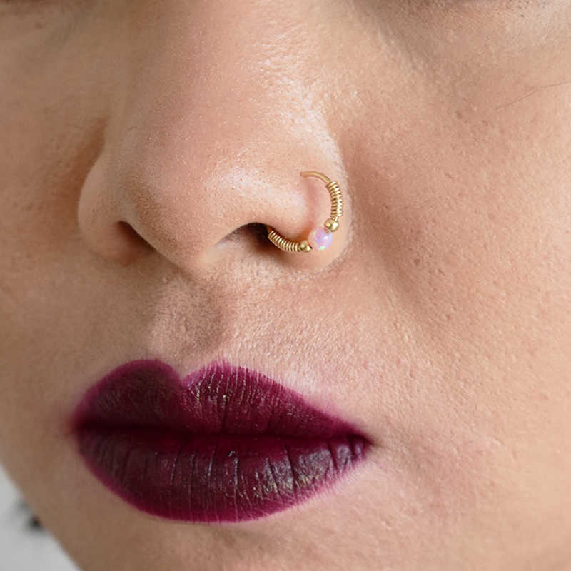 925 Silver Nose Ring Gold Filled Real Piercing Jewelry Handmade