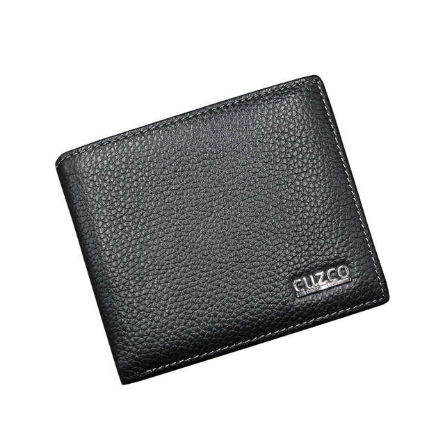 70f1106aee3 2017 Hot Sale Small Wallet Men Genuine Leather Men Wallet Male Purse  Cowhide Mini Wallets Black and Brown High Quality Business