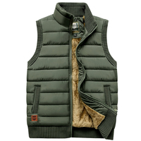 Newest 2019 Autumn Winter Men Coat Warm Sleeveless Jacket Casual Men Vest Coat Fleece Army Green Waistcoat Big Size 5XL