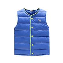 2017 children's winter clothes duck down vest for boys&girls for kids to keep warm outwear jacket coat free delivery cheap gift