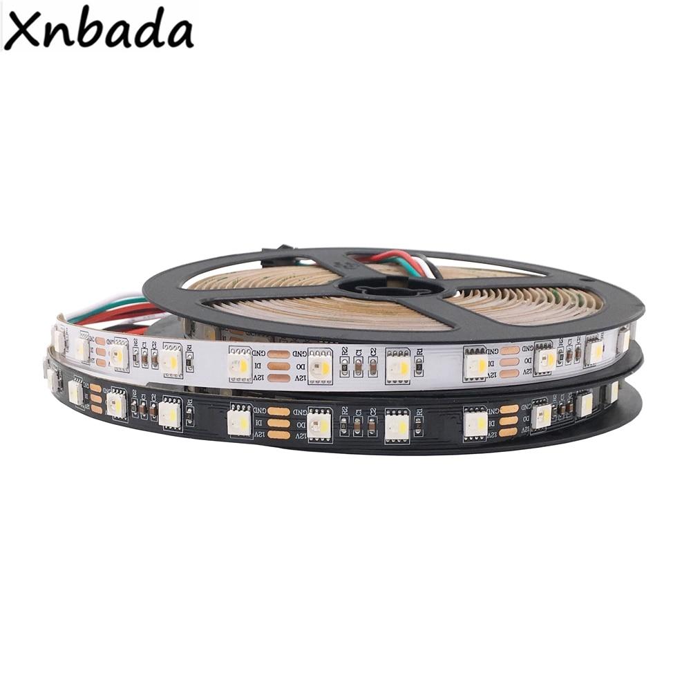 DC12V SK6812 5050SMD RGBW Similar WS2812b 4 in 1 60Leds Pisxels m Individual Addressable Led Strip