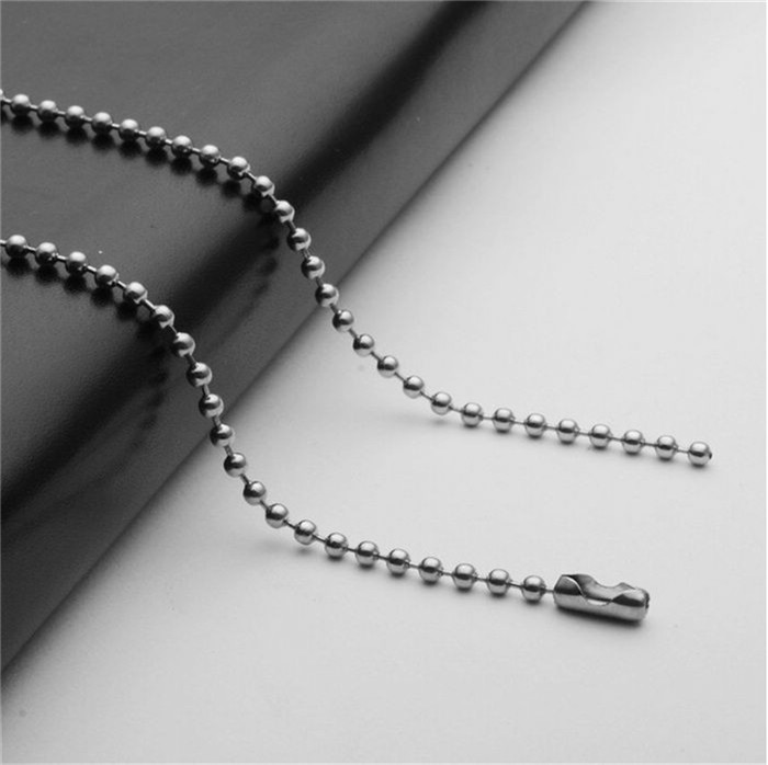 2mm Silver Tone Stainless Steel Ball Bead Chain Necklace Bracelet Women Bag Handbag Keychain Key Ring Dog Tag Jewelry Any Size38