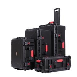 Große größe zugstange ausrüstung instrument fall werkzeug box sicherheit schutz wasserdicht stoßfest mit pre-cut schaum