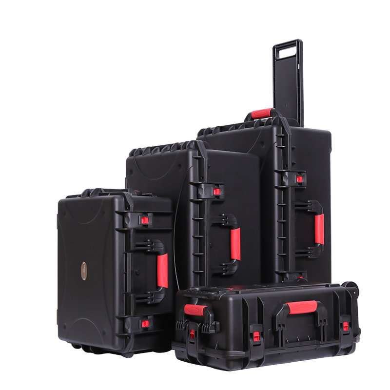 Large Size Pull Rod Equipment Instrument Case Tool Box Safety Protection Waterproof Shockproof With Pre-cut Foam