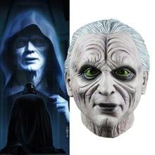 Star War Mask 3 Revenge of the Sith Chancellor Palpatin Hoorible Latex Hood Masks Halloween Horror Cosplay Praty Accessories цена