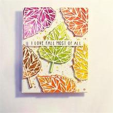 YaMinSanNiO Birch Leaf Metal Cutting Dies Leaves Scrapbooking for Card Making DIY Embossing Craft Stamps Stencil Die Cuts