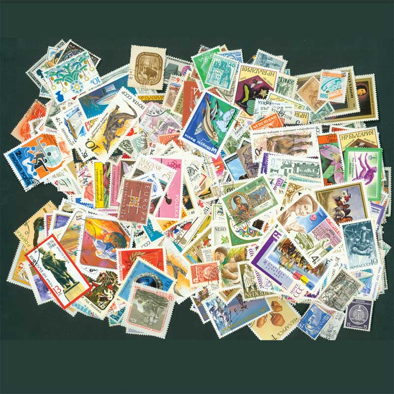 2000 PCS Lot No Repeat European Postage Stamp Collections From Europe Post Mark Stamps Postal All