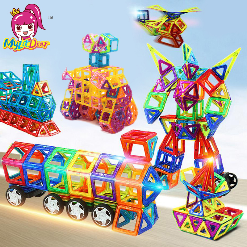 MylitDear 245pcs Mini Magnetic Blocks Educational Construction Set Models & Building Toy ABS Magnet Designer Kids Gift