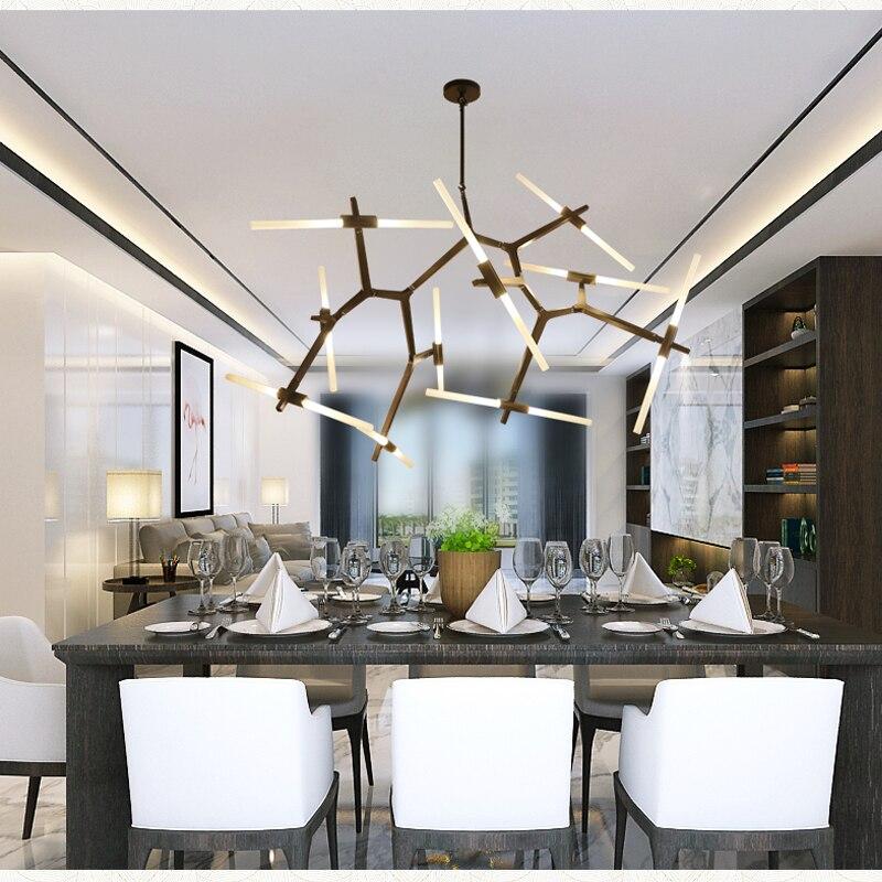 Us 37 7 35 Off Modern Led Chandelier Lighting For Dining Room Living Room Lustre Salon Moderne Glass Chandelier Suspension Luminaire Light Fixt In