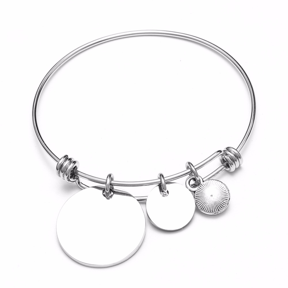 Sister by Heart Best Friends Bangle Bracelet with Quote