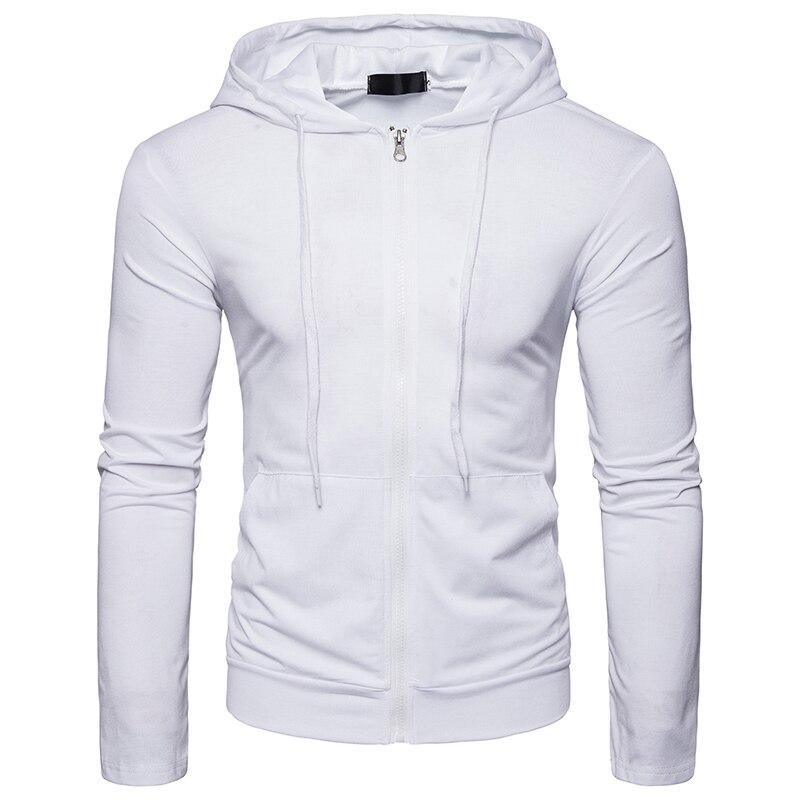 New Arrivals Hoodies Mens 2018 style zipper Type Male Brand Hoodie Men solid color Slim popular Hoody sweatshirts UE/US size
