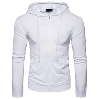 New Arrivals Hoodies Men S 2018 Style Zipper Type Male Brand Hoodie Men Solid Color Slim
