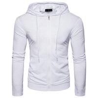 New Arrivals Hoodies Men S 2018 Style Zipper Type Male Brand Hoodie Men Solid Color Slim