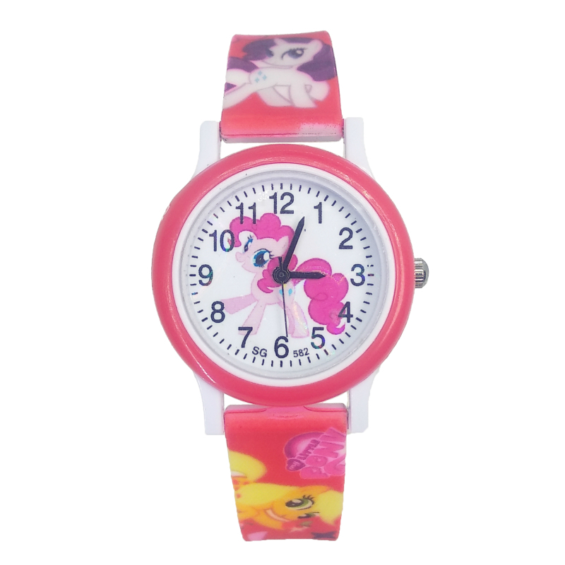 Horse Design Cartoon Fashion Baby Watch Children Girls Students Quartz Kids Watches For Party Gifts Relogio Kol Saati Clock