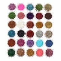 2019 nowy 30 sztuk brokat Eyeshadow Eye Makeup Shimmer pigment w proszku paznokci kosmetyczne Glitters mieszane kolory