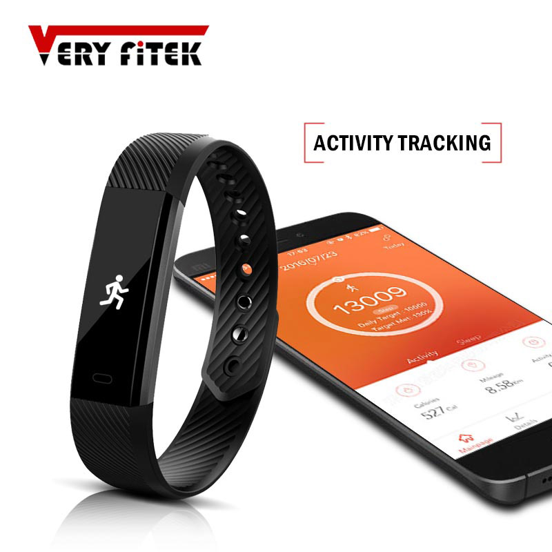 ID115 Smart Wristbands Fitness Tracker pulsera inteligente podómetro Bluetooth Smartband Monitor de sueño impermeable reloj