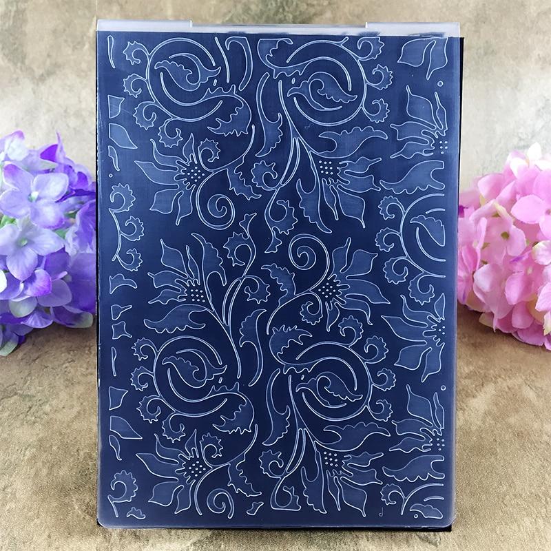 Cute Leaves Item01 DIY Scrapbook Bump Plastic Embossing Folder For Album Card Tool Plastic Template Embossing 10.6*14.5cm