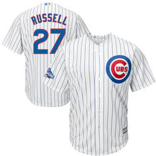 MLB Men s Chicago Cubs Addison Russell Baseball White 2016 World Series  Champions Home Cool Base Logo Patch Jersey 7c45ee8b9