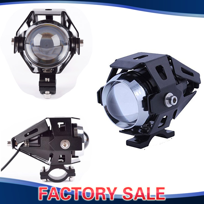 U5 Motorcycle LED Headlight Waterproof High Power Spot Light 15W Dirt Bike Dual Sport Enduro Car ATV Truck Boat itimo 1 pair led car fog lamps cob car styling external lights dc 12v universal car drl daytime running lights super bright