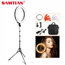 "18 ""5500 K 240 LED 55W Profesional Dimmable Fotografi Photo / Studio / Telepon / Video LED Ring Light Lamp Untuk Kamera"