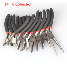 Hot 1/8pcs Jewellery DIY Making Beading Mini Pliers Tools Kit Set Round Flat Long Nose XJS789