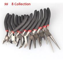 Hot 1/8pcs Jewellery DIY Making Beading Mini Pliers Tools Kit Set Round Flat Long Nose XJS789