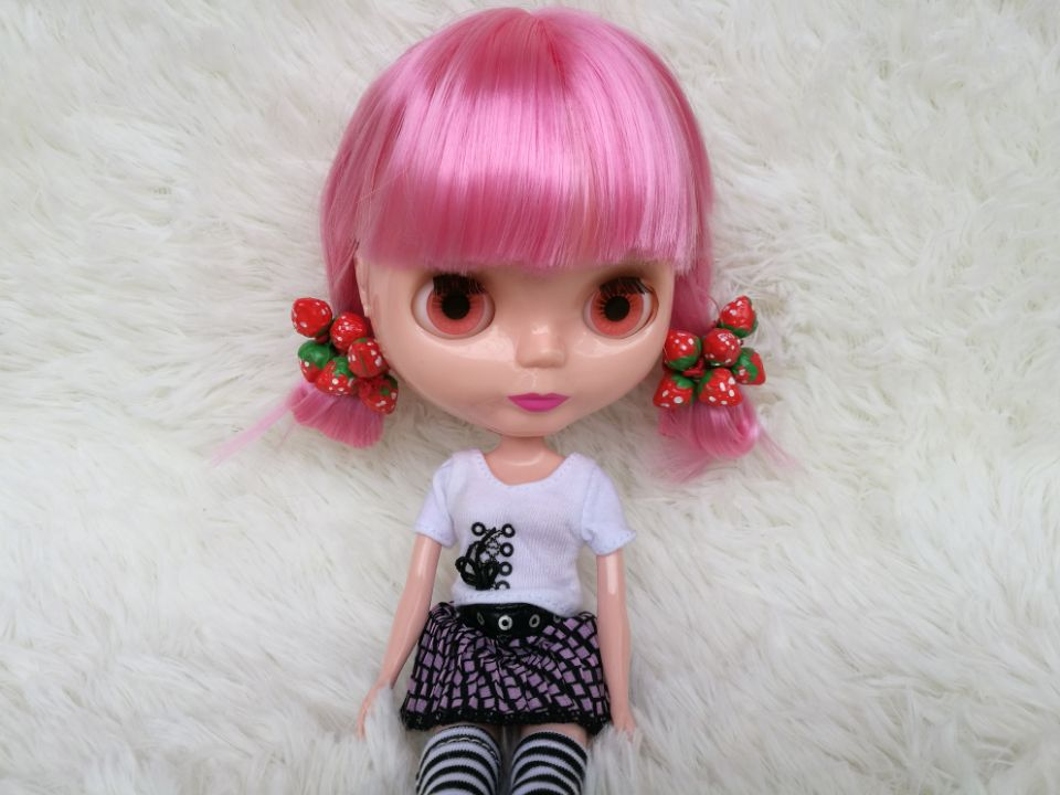 Strawberry hairline Doll Equipment for  blythe Barbie, Licca,bjd doll  Toys Christmas present free transport