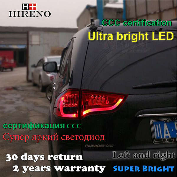Hireno Tail Lamp for Mitsubishi Pajero Sport 2013 2014 2015 2016 LED Taillight Rear Lamp Parking Brake Turn Signal Lights