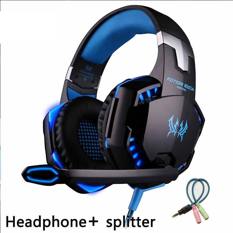 G2000 Gaming Headsets Big Light Headphones With Microphone Stereo Earphones Deep Bass Headset For Computer Tablet PS4 X-BOX