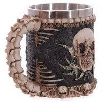 Desenhos animados Canecas Rosto Fkull Caneca 3D Estereoscópico Horror Fantasma Cabeça Água Tea & Coffee Cup Garrafa de água de Vidro Drinkware